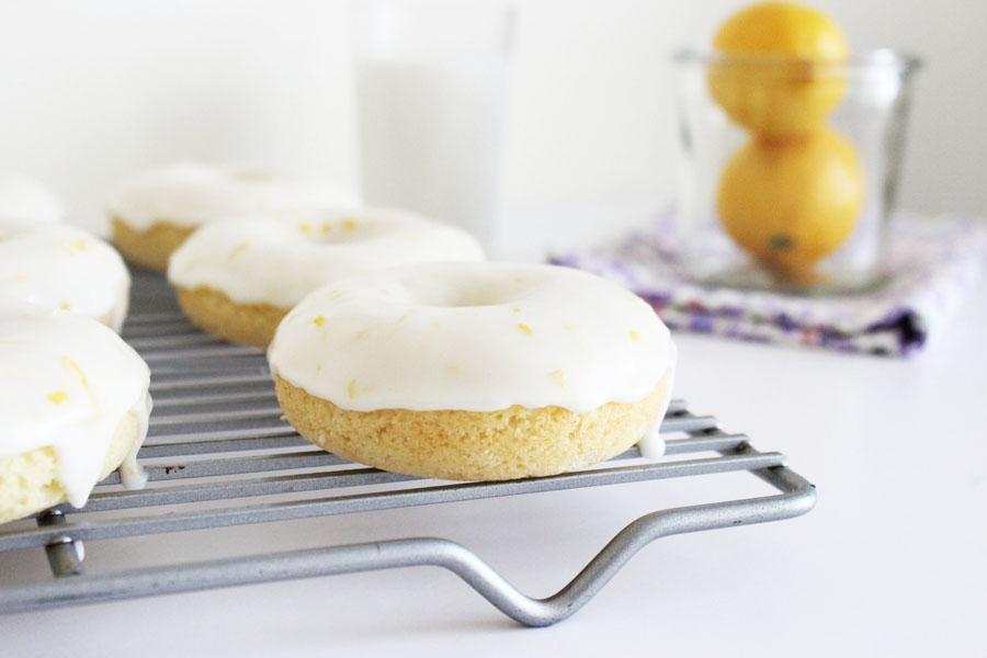 Iced Lemon Ricotta Donuts {La Casa de Sweets}